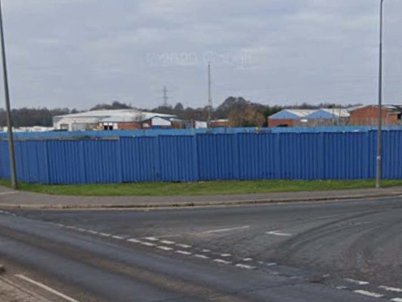 The 'blue hoarding' site in Burntwood. Picture: Google Streetview