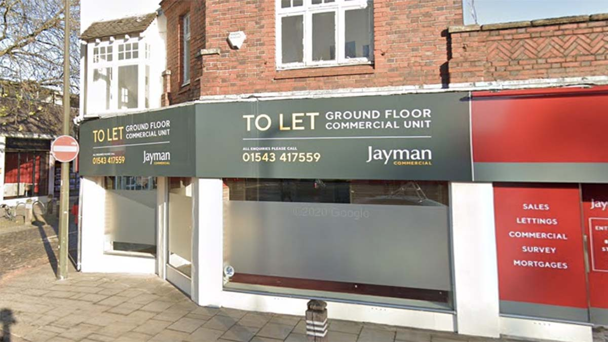 The proposed site of the new restaurant and takeaway in Lichfield. Picture: Google Streetview