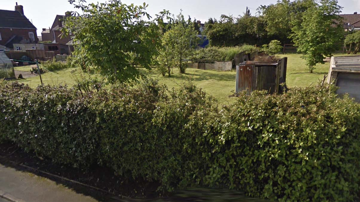 The land earmarked for bungalows in Chase Terrace