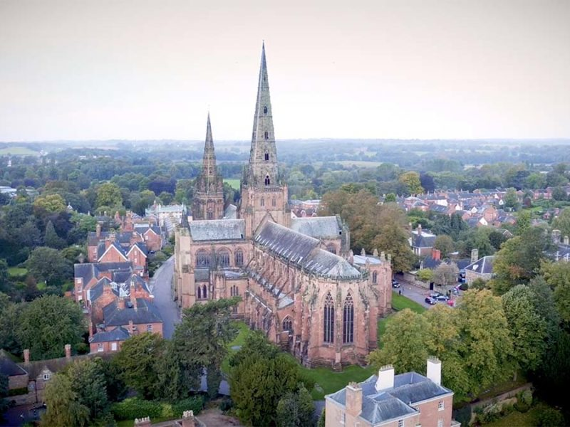 A shot of Lichfield Cathedral from the Lichfield Tourism video