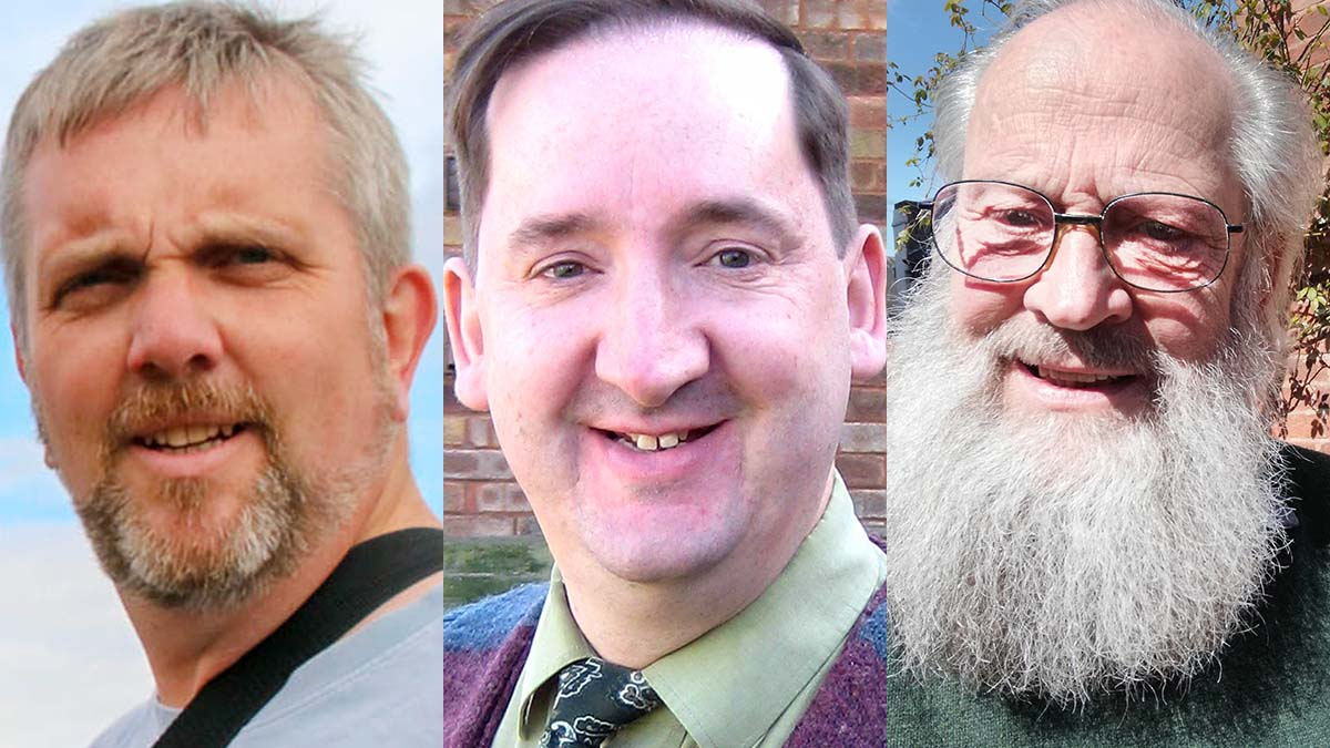 Green Party candidates Paul Ecclestone-Brown, Simon Partridge and Stephen Sanders