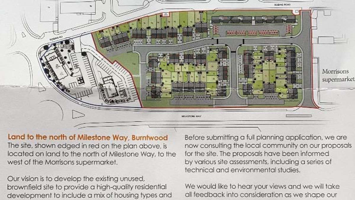 Part of the leaflet outlining plans for the land