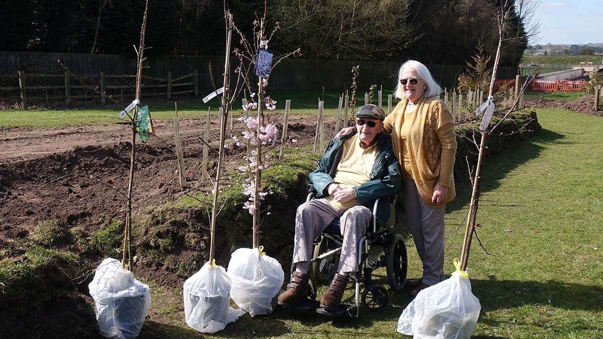 Brian and Jane Taylor with some of the trees