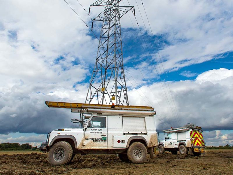 A Western Power Distribution vehicle