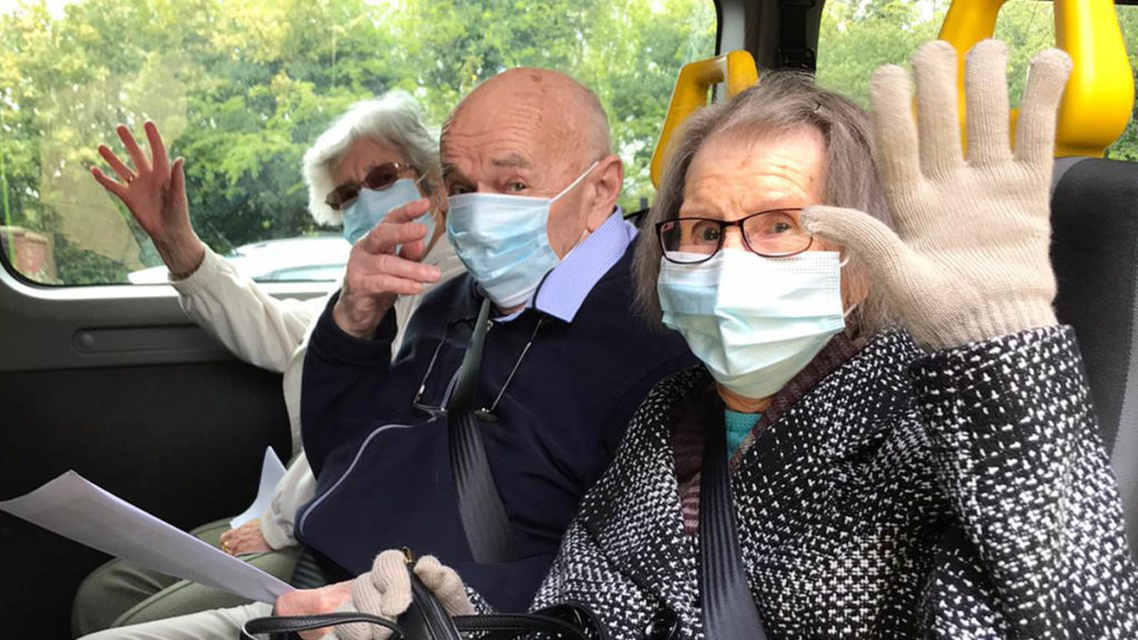 Residents from The Spires heading out on a trip to Lichfield Cathedral