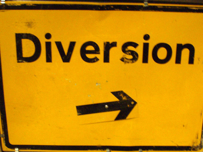 Diversion sign
