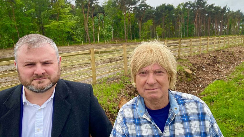 Andrew Stephenson MP and Michael Fabricant MP during their visit to HS2 sites