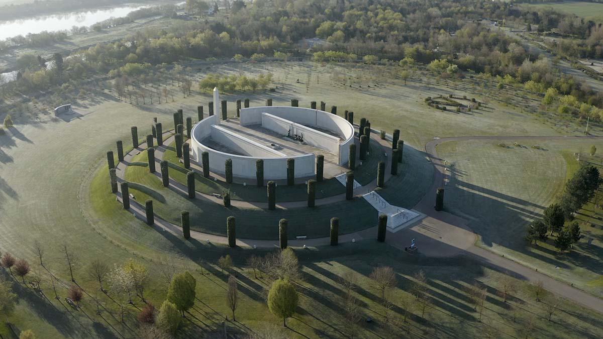 The Armed Forces Memorial at the National Memorial Arboretum