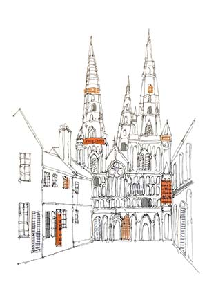 Ruth Allen's picture of Lichfield Cathedral