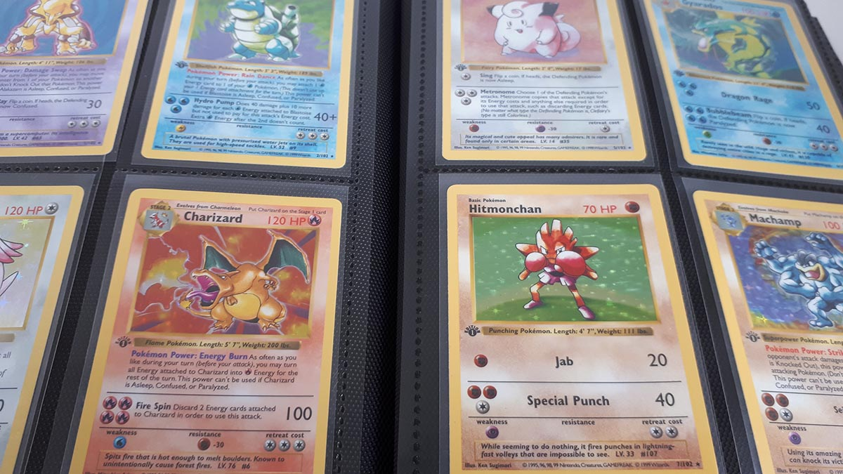 The first edition Pokemon base set