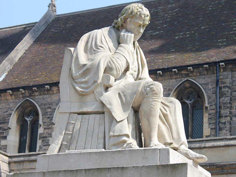 The Samuel Johnson statue in Lichfield