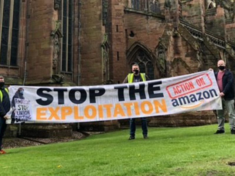 Campaigners outside Lichfield Cathedral