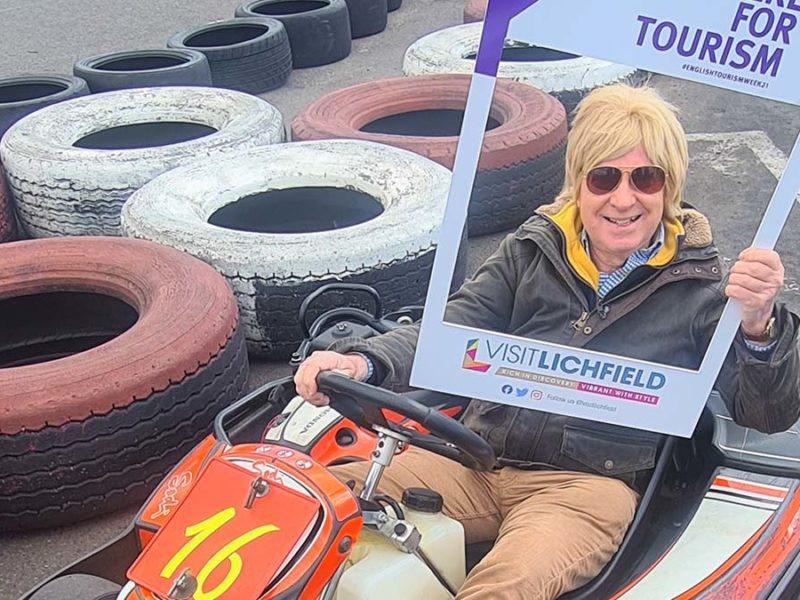 Michael Fabricant at Midland Karting