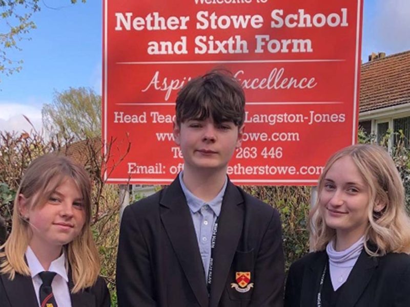Pupils at Nether Stowe School
