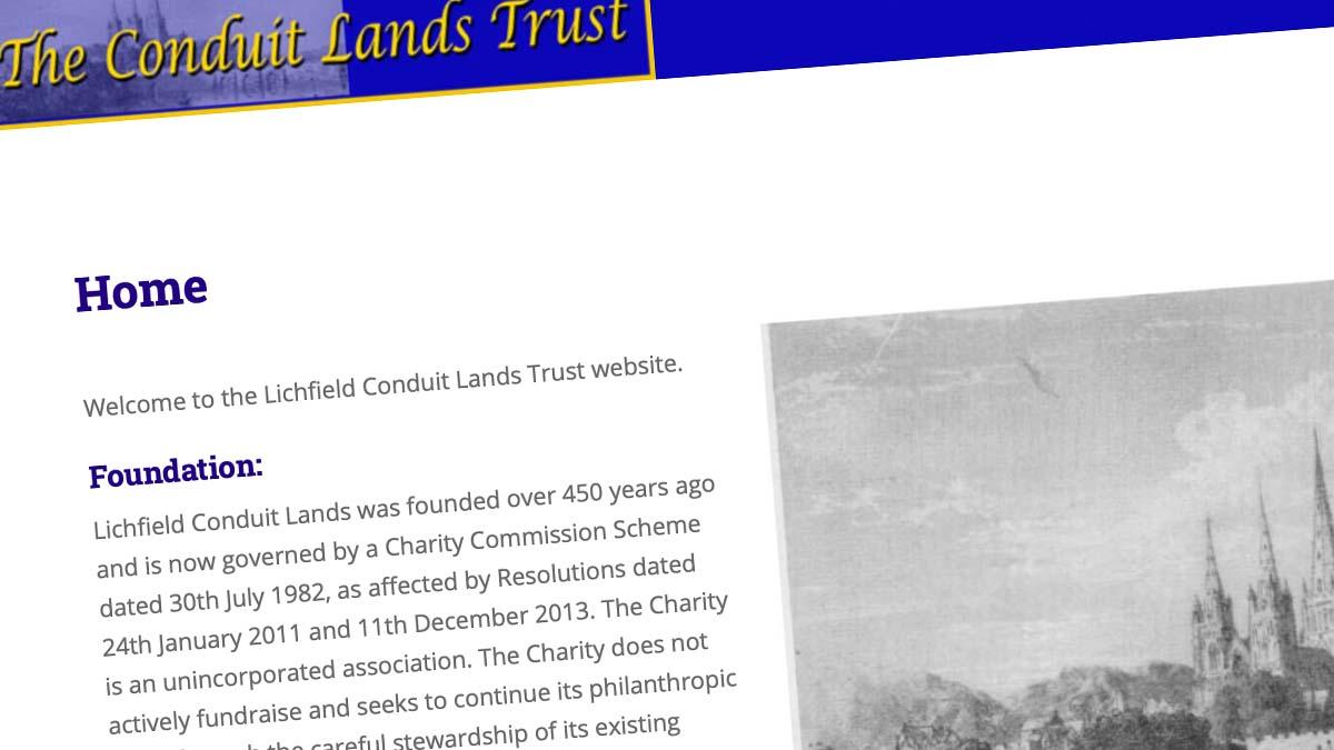 Lichfield Conduit Lands Trust website