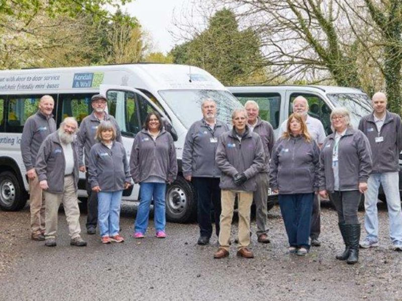 Some of the volunteers from the Kendall and Wall Charitable Trust