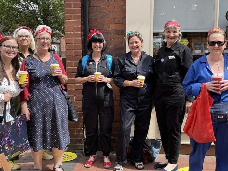 Rosie's Plaques visiting Lichfield