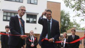 Education Secretary cuts the ribbon on £4.2million expansion at Lichfield school