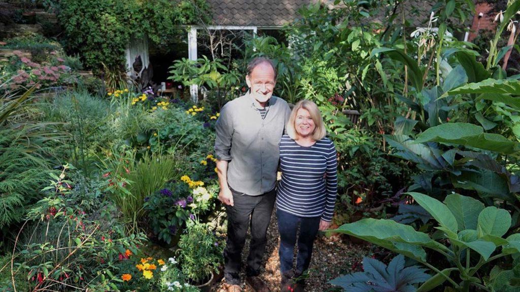 Nigel and Mary Lawson in their award-winning Whittington garden