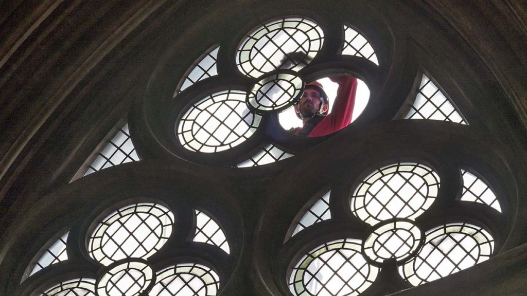 Repairs being carried out on windows at Lichfield Cathedral