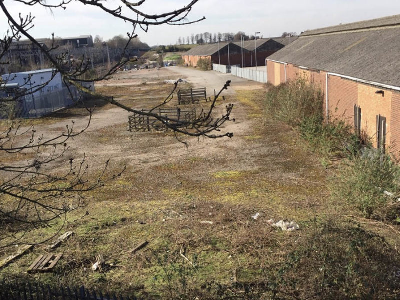 The proposed site of 55 new homes in Lichfield