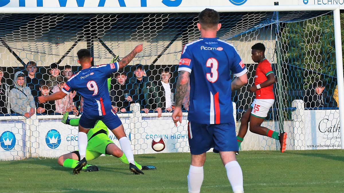 Reggie Smith scores for Chasetown. Picture: Dave Birt
