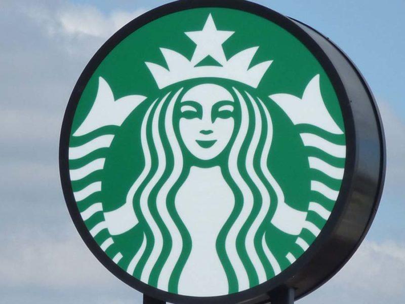 Starbucks sign. Picture: Elliott Brown