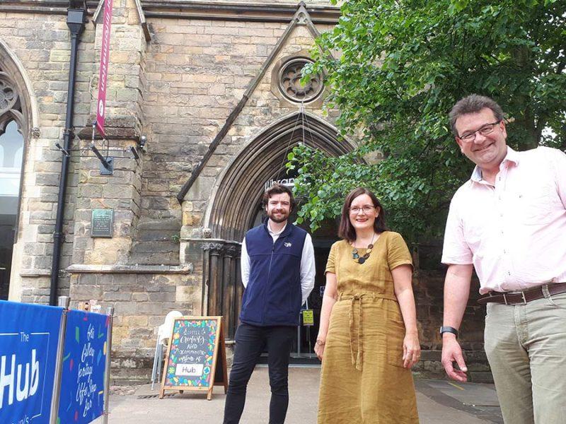Ben Winterton, Louise Fleming and Richard Winterton at The Hub
