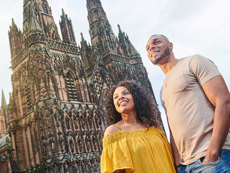 A couple at Lichfield Cathedral