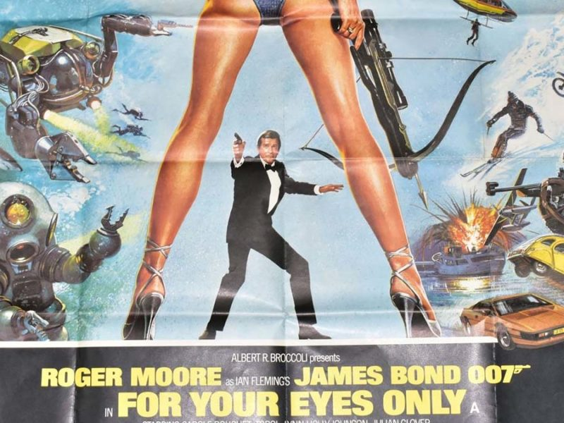 The For Your Eyes Only cinema poster going up for auction in Lichfield