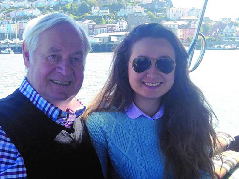 Martha Davis with her grandfather Alan Bird