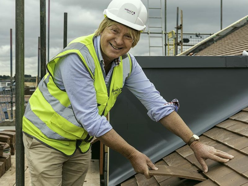 Michael Fabricant MP laying the final tile