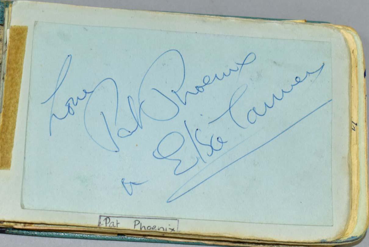 Pat Phoenix's autograph