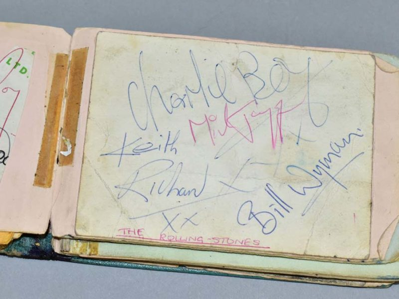Autographs from The Rolling Stones