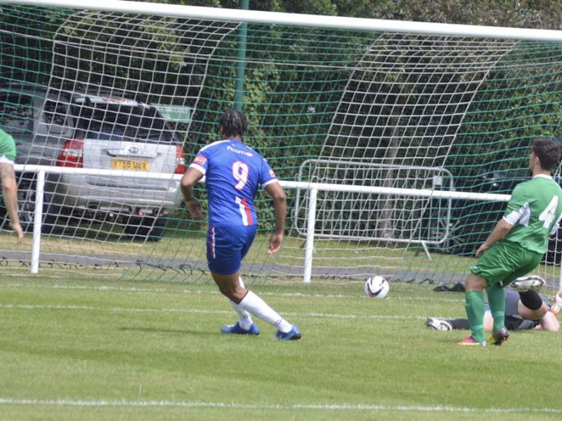Chasetown score against Brocton. Picture: Paul Mullins