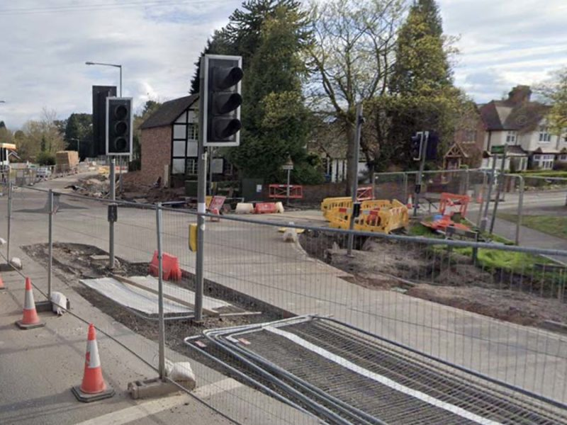 Roadworks taking place at the Shortbutts Lane junction. Picture: Google Streetview