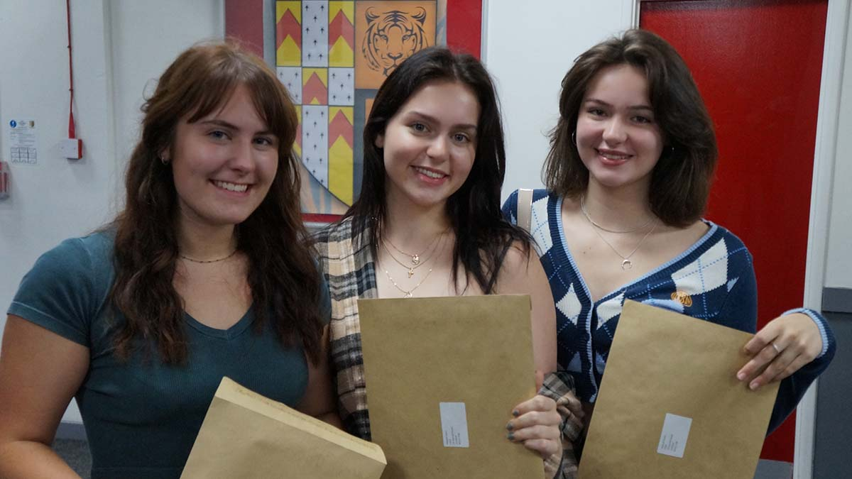 Students at The Friary School receiving their A-Level results