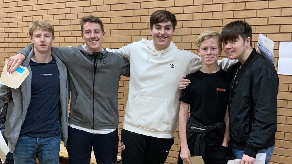 Ben Cleall, Harry Crumpler, Tom Dale, Conor Coakley and Harrison Clements