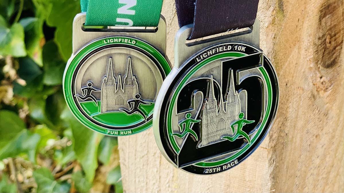 Lichfield 10k 25th anniversary medals