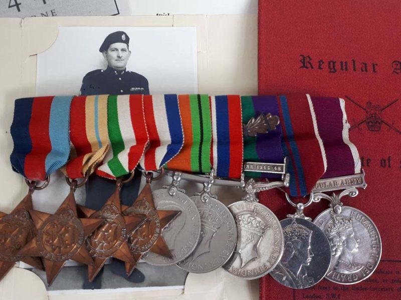 John Johnstone's medals