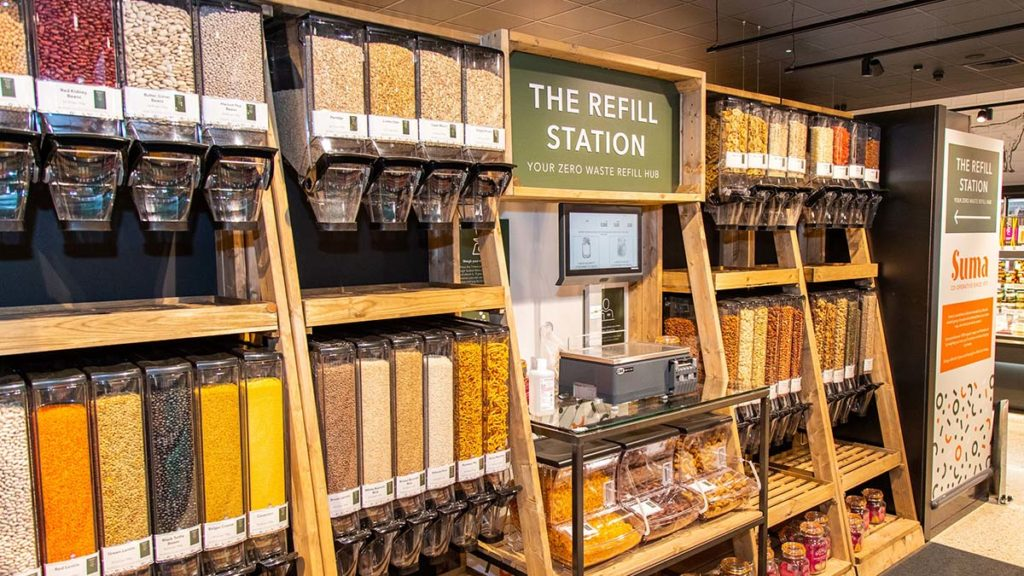 The refill station at Central England Co-op's Boley Park store