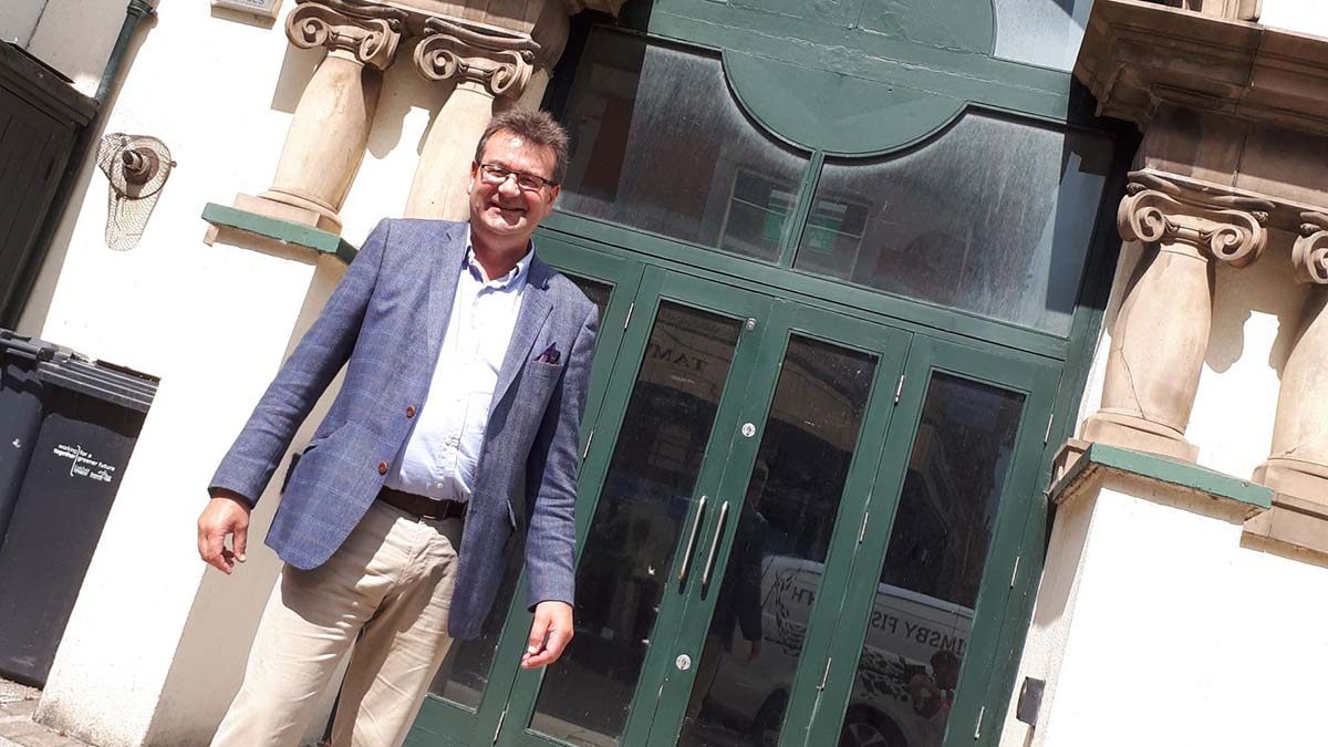 Richard Winterton outside the new auction site in Tamworth