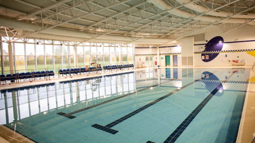 The swimming pool at Burntwood Leisure Centre