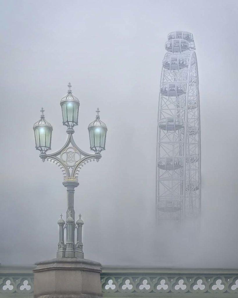 Fog over Westminster Bridge by Dean Borgazzi