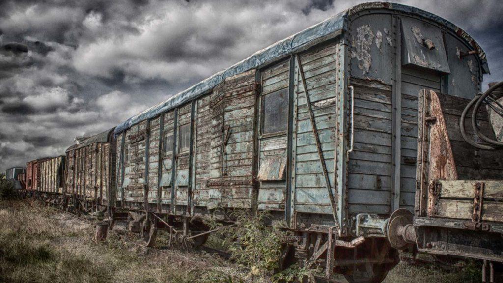 The Train Yard by Annette Keatley