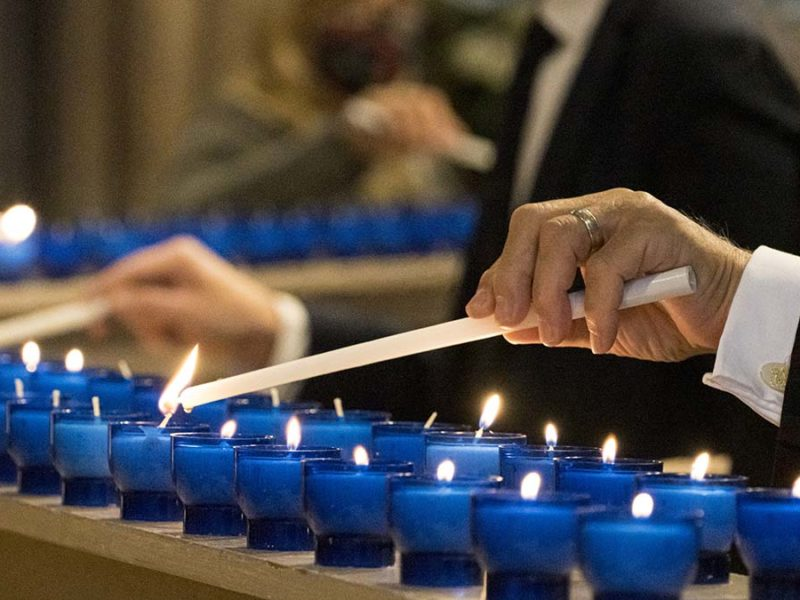 Candles being lit during the service. Picture: Lichfield Cathedral Photographers