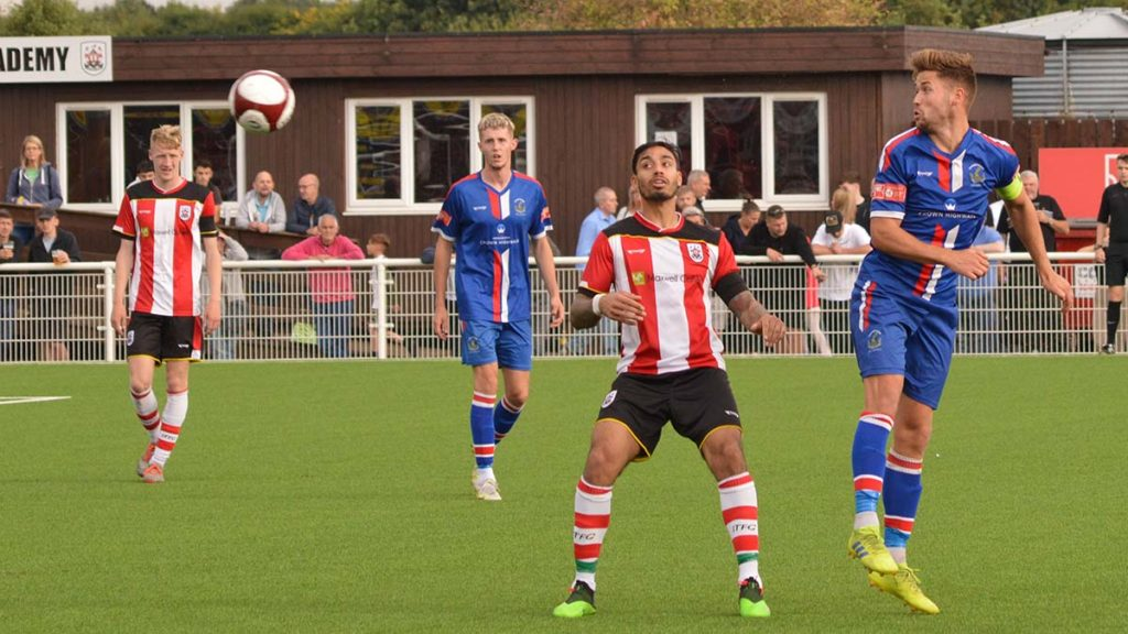 Action from Ilkeston v Chasetown. Picture: Paul Mullins