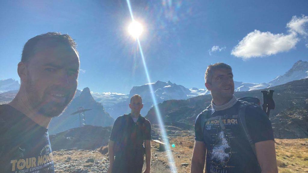 The trio during their trek