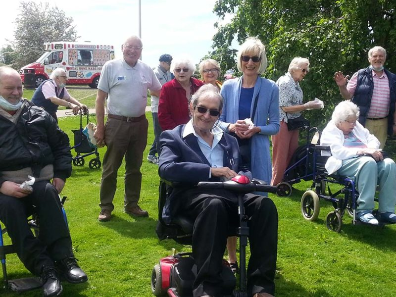 People on a day out with Kendall and Wall Charitable Trust