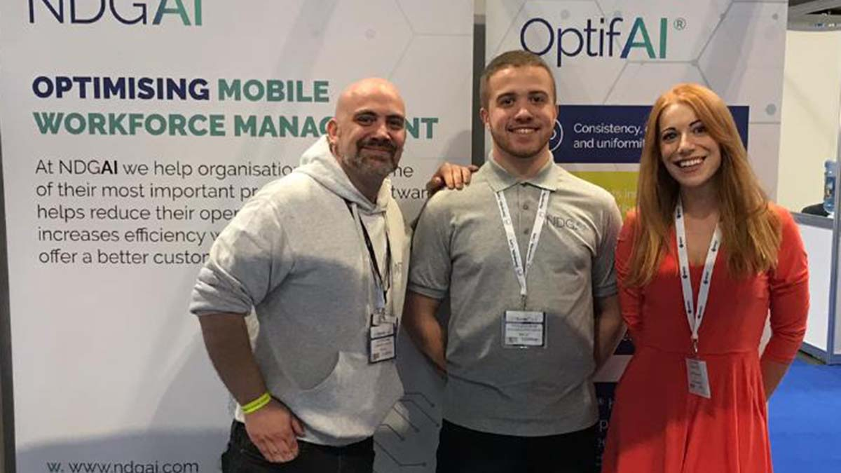 Hannah Montgomery with some of her clients at a trade event